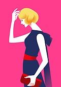 패션, 여성 (성별), 쇼핑 (상업활동), 연례행사 (사건), 상업이벤트 (사건), 봄, 옆모습