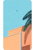 휴대폰 (전화기), 백그라운드, 풍경 (컨셉), 백그라운드 (주제), 하늘, 비행기, 야자나무 (열대나무)