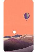 휴대폰 (전화기), 백그라운드, 풍경 (컨셉), 백그라운드 (주제), 하늘, 열기구, 태양 (하늘), 일몰 (땅거미), 산