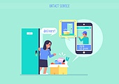 쇼핑 (상업활동), 비대면 (사회이슈), 소비, 배달 (일), 스마트폰