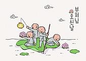 부처님오신날 (홀리데이), 부처님오신날, 기념일, 종교, 승려 (종교인), 불교, 동자승, 연꽃, 연등