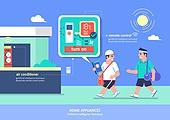 가전제품 (생활용품), 인공지능, 지성 (컨셉), 원거리 (위치묘사), 사물인터넷, 에어컨