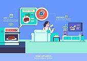 가전제품 (생활용품), 인공지능, 지성 (컨셉), 원거리 (위치묘사), 사물인터넷, 오븐, 요리 (음식상태)