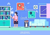 가전제품 (생활용품), 인공지능, 지성 (컨셉), 원거리 (위치묘사), 사물인터넷, 공기청정기 (클리닝도구), 먼지
