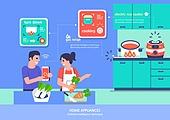 가전제품 (생활용품), 인공지능, 지성 (컨셉), 원거리 (위치묘사), 사물인터넷, 요리 (음식상태), 밥솥, 밥솥 (주방가전제품)