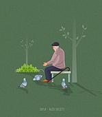 노인 (성인), 외로움 (컨셉), 외로움, 독거노인 (노인)