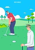 벡터 (일러스트), 취미, 여가 (주제), 휴식 (정지활동), 운동, 골프 (스포츠)