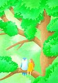 환상 (컨셉), 동화, 사람, 동물, 상상력 (컨셉), 어린이 (나이), 숲, 나무