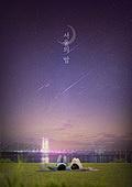 그래픽이미지, 밤 (시간대), 서울 (대한민국), 풍경 (컨셉), 일몰 (땅거미), 사람, 여가 (주제)