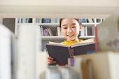 어린이 (나이), 독서, 초등학생, 소녀, 미소