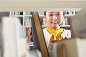 어린이 (나이), 독서, 초등학생, 소녀, 미소, 선택