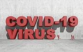 그래픽이미지 (Computer Graphics), 사회이슈 (주제), 타이틀 (문자), 바이러스, 질병, 코로나19 (코로나바이러스), 사회적거리두기 (사회이슈)
