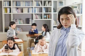 교실, 학교생활, 어린이 (나이), 초등교육, 스트레스, 수업중