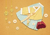 페이퍼아트, 종이, 한복, 전통문화 (주제), 한국전통, 패턴 (묘사), 옷, 치마, 저고리, 노리개
