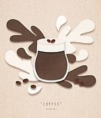 페이퍼아트, 종이, 음료, 커피 (뜨거운음료), 팝업, 팝업북, 라떼