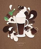 페이퍼아트, 종이, 음료, 커피 (뜨거운음료), 팝업, 팝업북