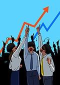 주권 (증명서), 주식시장 (금융), 투자, 투자 (금융), 개미, 금융, 그래프, 쇠퇴 (컨셉)