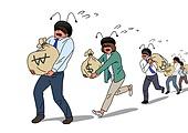 주권 (증명서), 주식시장 (금융), 투자, 투자 (금융), 개미, 금융, 화폐 (금융아이템), 돈자루