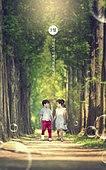 그래픽이미지, 5월, 가정의달, 황금연휴 (휴무), 휴가 (주제), 자연 (주제), 풍경 (컨셉), 어린이 (나이), 두명, 달리기 (물리적활동)