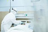 코로나바이러스 (바이러스), 코로나19 (코로나바이러스), 방호복, 병원 (의료시설), 의사, 간호사, 방호복 (방호용품), 위기극복, 진찰, 치료