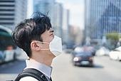 코로나바이러스 (바이러스), 코로나19 (코로나바이러스), 사회적거리두기 (사회이슈), 마스크 (방호용품), 대기오염 (공해), 초미세먼지, 대기오염, 공해마스크 (마스크), 피로, 스트레스, 고역 (컨셉)