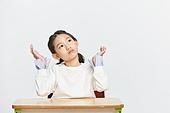 초등학생, 초등교육, 어린이 (나이), 걱정 (어두운표정), 아이디어, 생각 (컨셉)