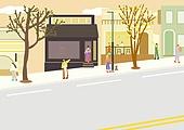 풍경 (컨셉), 사람들, 마스크 (방호용품), 봄, 도로, 상품진열창 (창문)