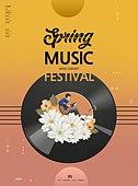 그래픽이미지, 봄, 상업이벤트 (사건), 나무, 음악, 악기, 포스터, 이벤트페이지