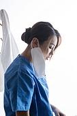 코로나19,마스크,건강,질병,바이러스,방역,방호복,의료진,휴식,여성