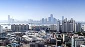 건설현장,63빌딩,서울국제금융센터,엘지트윈타워,마포대교,마포구,한강,서울