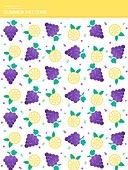 일러스트, 벡터 (일러스트), 여름, 패턴, 문양, 무늬, 과일
