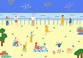 불꽃놀이,불꽃축제,아웃도어,여름,휴가
