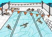 수영장,수영,아웃도어,여름,휴가