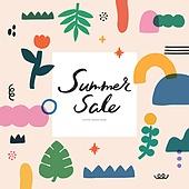 트로피컬,여름, 쇼핑, 배너, 이벤트