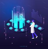 일러스트, 증강현실, Augmented Reality (Technology), 기술 (과학과기술), 첨단기술 (기술), 미래 (컨셉)