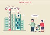 부동산, 청약, 청약가점 (청약), 주택청약종합저축 (저축), 주택소유 (부동산), 주택문제, 아파트, 건설현장 (인조공간), 가족, 유모차
