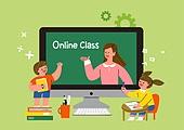 교육 (주제), 어린이 (나이), 초등교육, 교과목 (사건), 공부, 프레임, 인터넷강의 (인터넷)