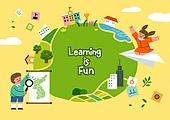 교육 (주제), 어린이 (나이), 초등교육, 교과목 (사건), 공부, 프레임, 인터넷강의 (인터넷), 지도