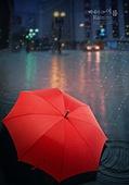 그래픽이미지, 비 (물형태), 날씨, 풍경 (컨셉), 여름, 장마 (계절), 우산 (액세서리), 빗방울