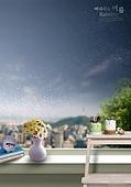 그래픽이미지, 비 (물형태), 날씨, 풍경 (컨셉), 여름, 장마 (계절), 빗방울, 창틀