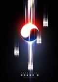 그래픽이미지, 백그라운드, 태극기, 호국보훈의달, 포스터, 강렬한빛 (발광), 애국심