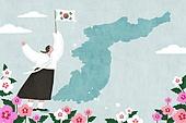 호국보훈의달 (한국기념일), 기념일 (사건), 태극기, 태극무늬 (한국전통), 무궁화, 한국지도 (지도), 광복절 (한국기념일), 유관순
