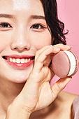 여성, 뷰티, 분홍 (색), 음식, 색조화장 (화장품), 마카롱, 미소