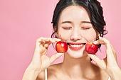 여성, 뷰티, 분홍 (색), 음식, 색조화장 (화장품), 꽃사과 (사과)