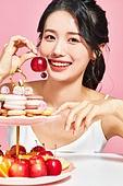 여성, 뷰티, 분홍 (색), 음식, 색조화장 (화장품), 미소
