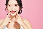 여성, 뷰티, 색조화장 (화장품), 미소, 밝은표정