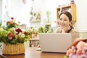 여성, 꽃가게 (가게), 판매업 (직업), 플로리스트, 미소, 지원금
