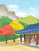 일러스트, 한국 (동아시아), 큰절 (한국전통), 템플스테이 (주제), 휴가 (주제), 회복 (컨셉), 휴식 (정지활동), 자연 (주제), 명상