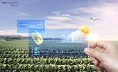 그래픽이미지, 사회이슈 (주제), 스마트팜, 농업 (주제), 첨단기술 (기술), 사물인터넷, 인공지능, 원격관리