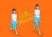 홈트레이닝 (운동), 운동, 스트레칭, 여성 (성별), 청년 (성인), 행동 (모션), 레깅스